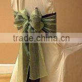 Ivory polyester banquet chair cover for wedding