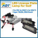 Canbus no error code led number plate lamp light for vw for golf5 golf6 golf7 for passat for golf 4