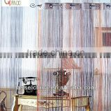Tone to tone multi color string curtain, polyester yarn wholesale window door curtain design (QX-DR39)