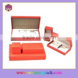 Hot-selling PU Leather Coverd Packaging Jewelery Box & Orange Jewelery Set Boxes India