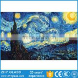 Home Decoration Abstract Glass Painting Designs