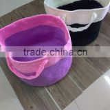 Manufacture of hand crochet basket , storage baseket , floder basket