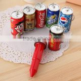 DIY creative stationery kids personalized Novelty Sprite cans Coke Cola can keychian shaped promotional cute telescopic ball pen