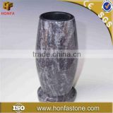 Factory different size granite flower vases for graves