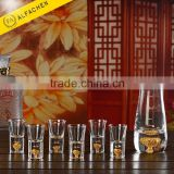 1 Pot with 6 Shot Glasses Crystal Wine or Water Glass Jug Set