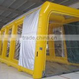 4mWx4mHx10mL yellow Inflatable spray booth Inflatable spray tent Inflatable car paint booth