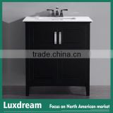 Used bathroom vanity cabinets 28 inch with espresso finish from china