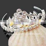 flower shaped jeweled bridal tiara