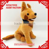 Audit factory 8''-10'' sitting German shepherd plush dog toys with amigo necklet