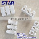 New Design Three-Wire Terminal Blocks 380V 10A CH3 Ceiling Lamp Accessories Lighting Fast Wire Cable Connectors