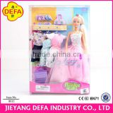 11.5inch travel style fashional plastic doll with purple luagge&clothes