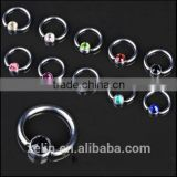 The Hot Sale Ball Closure Captive Ring BCR with CRYSTAL GEMS Lip Nose Ear Tragus Septum Ring
