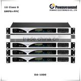 INQUIRY ABOUT DA-1000 powavesound high power amplifier professional factory 1U class D amplifier circuit 1000W