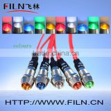 Filn neon indicator lamp 12V led control panel indicator light 120v copper oven white color
