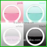Fashion LED Selfie Ring Light 3-Level Brightness LED Clip On for Iphone,Blackberry, Samsung Galaxy