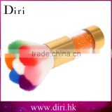Colorful Nail Dust Brushes Acrylic&UV Nail Gel Powder Nail Art Dust Remover Brush