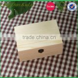 factory price top quality unfinished pine wood wooden box for gift packing,wooden gift box