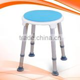 Round EVA pad swivel shower chair /shower stool HOT SALE