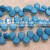 blue teardrop natural loose turquoise beads