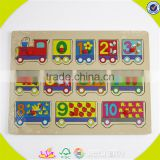 wholesale educational wooden toddler puzzle toy math teaching aid kids wooden toddler puzzle toy baby jigsaw game W14B027