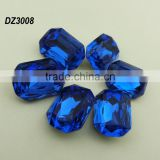 Octagon Facetted Cut Crystal Blue Fancy Stone;Whoesale gemstone