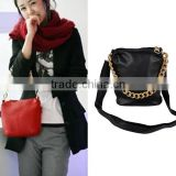 2013 New Fashion Women's Soft Synthetic Leather Zipper Chain Across Body Purse Handbag Shoulder Bag 3896