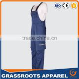 workwear bib pant, workers overall uniforms security workwear men's fireproof bib pants with pockets on the sides