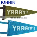 OEM 8X18inch Hanging Custom Design Both Side Heat Transfer Printing Felt Pennant Flag For Decoration