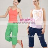 Adult colorful 3/4 capri jazz pants