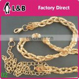 2016 Custom made lady waist chain fashion women chain belts