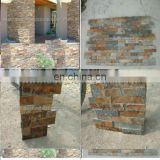 decorative rock wall panels in rusty color