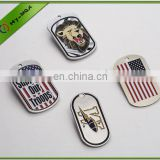 Wholesale matte finish square Stainless steel military dog tags