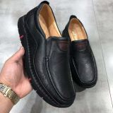 Genuine  Leather handmade  men's  Lazy Soft shoes  with black outsole factory wholesale