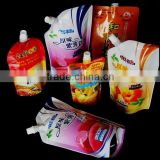Accept Custom Flexo printing Laminated materials drink pouch with top spout or cornor spout for liquid packaging