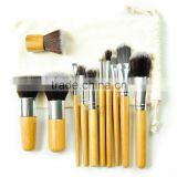 Beauty need high quality makeup brushes ,free sample makeup brush set 11 pcs ,synthetic hair make up brush with case