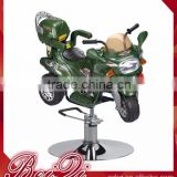 Beiqi Newest Fashionable Kid's Barber Chair with Plastic Motorcycle Car Shape in Red/Green Barber Chair Furniture