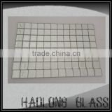 HAOLONGGLASS 30mm*30mm Ruby clear Beveled Mirror Glass Mosaic Tile