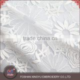 Chinese factory custom pattern crystal yarn and micro fiber polyester materials water soluble lace fabric