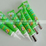 flexible plastic tube with silver foil cap for cosmetic packagings,small soft tube,PE tube for cosmetic packaging