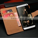 New Product Accessory Mobile Phone Case Used Genuine Leather Pocket Size Universal Book Style Bag Cover for HTC One M7 Phone                                                                         Quality Choice