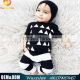 Summer Children Clothes Baby Boy Wearing 2016 Pure Cotton Triangle Printed Boy Suits Sets