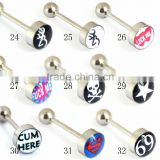 Lip Barbell Ear Labret Piercing Body jewelry Tongue STUD RINGS