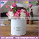 China wholesale fancy custom logo gold hot stamp cardboard printing hat box for flowers/rose packaging box