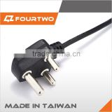 Professional electrical cable PVC insulated flexible wire & cable with 3-pin American standard power plug