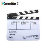 Commlite Clapperboard Clapper Board TV Film Movie Slate Black White Clapboard                                                                         Quality Choice