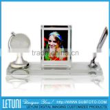 Personalized Crystal Ball and Pen Holder set
