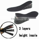 High quality rubber sole for shoes insole PVC material insole for increase height