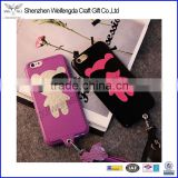 Korea cute little bear leather neck mobile phone cover for iphone 6 6s                                                                         Quality Choice