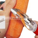 ABS+S/S 19*3 Kitchen tools multifunctional fruit&vegetable peeler/stainless steel fish scale scraper