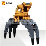 excavator attachments tine log grapple, timber grab bucket